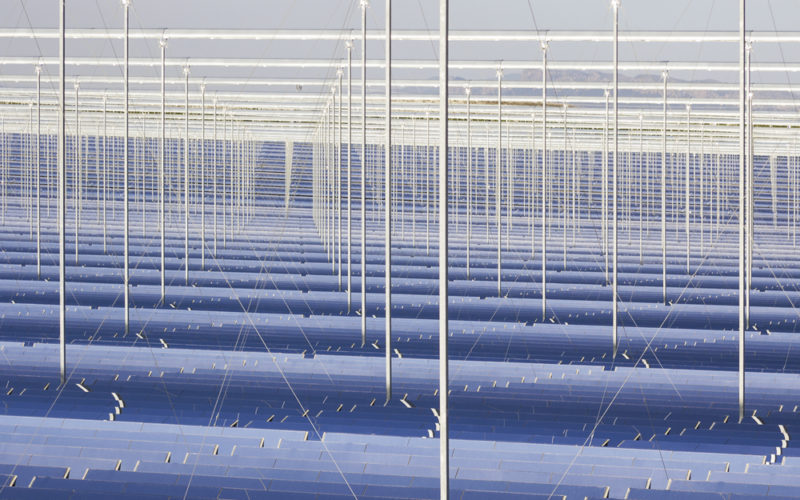 The world's largest concentrated solar power project in Dubai