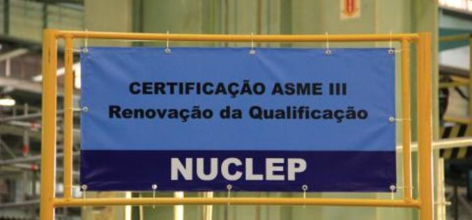Nuclep renews Asme III certification