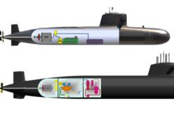 Brazilian submarine to be launched at sea